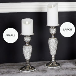 Diamond Glitz Small Nickel Candle Holder