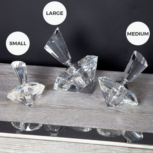 Large Crystal Diamond Perfume Bottle Decor Ornament