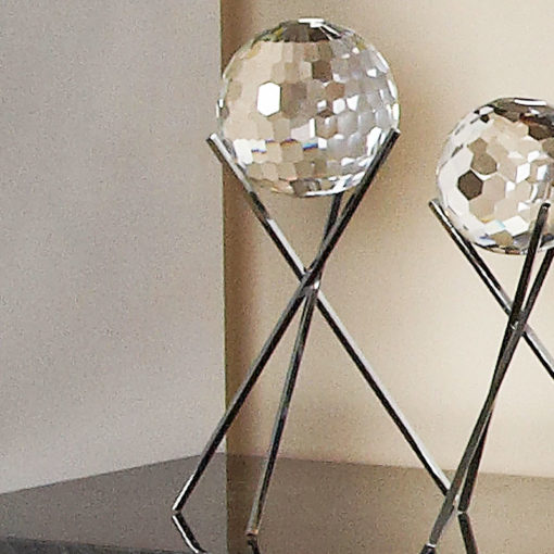 Large Glittering Sparkling Cut Glass Faceted Sphere Orb Home Decor