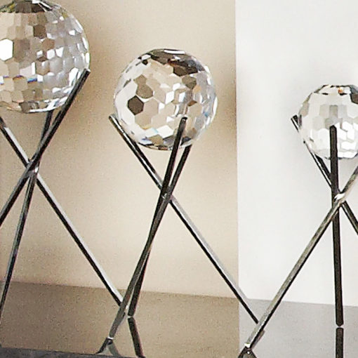 Medium Glittering Sparkling Cut Glass Faceted Sphere Orb Home Decor