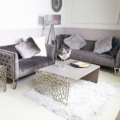 Annabelle Coffee Table With Cut-out Circle Clusters And Grey Wood