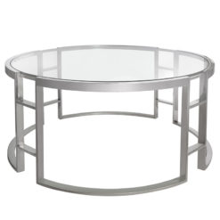 Atticus Chrome And Tempered Glass Coffee Table