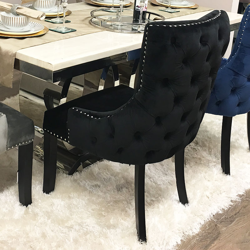 Tufted Dining Bench With Back: Black Tufted Back Dining Chair