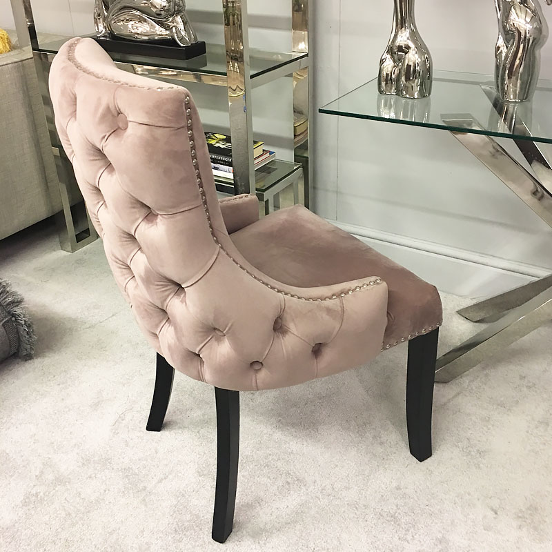 Blush Pink Tufted Back Dining Chair Picture Perfect Home