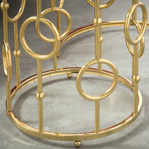 Fiorella Gold Nest Of Two Tables With Tempered Glass Top