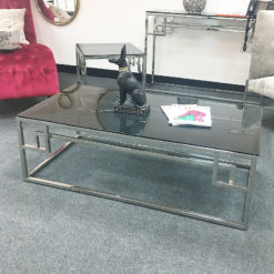 Idabelle Chrome And Tempered Glass Coffee Table