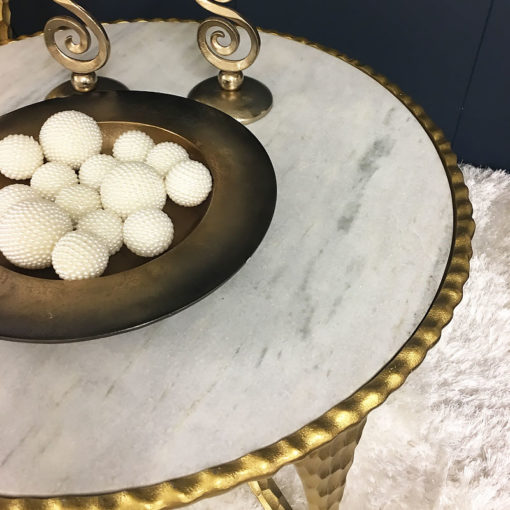 Kingston Hammered Gold And Marble Coffee Table