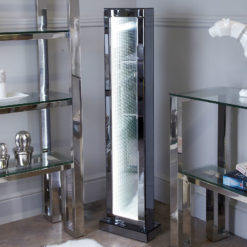 Large Smoked Mirror Floor Lamp With Infinity Lights
