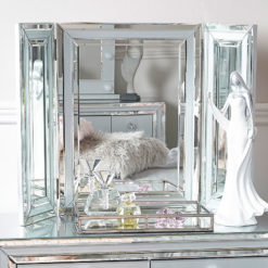 Madison Grey Glass Vanity Tri-Fold Mirror