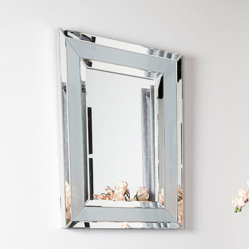 Madison Grey Rectangular Wall Mirror