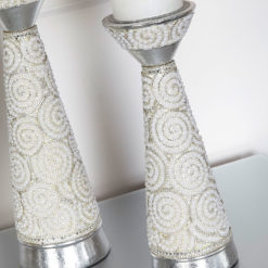 Medium Pearl Swirl Candle Holder