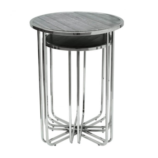 Monroe Marble Effect Top Set Of 2 Nesting Tables