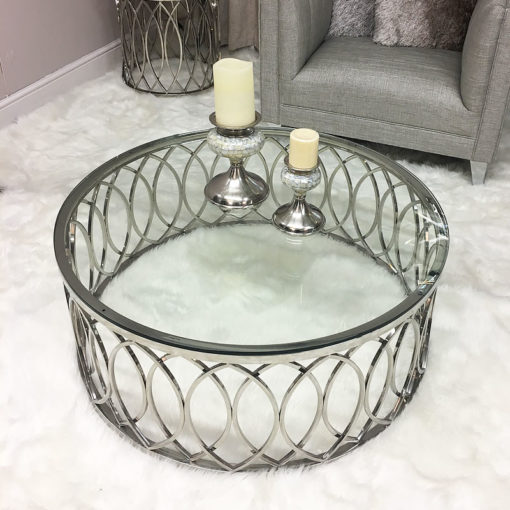 Primrose Chrome And Glass Coffee Table