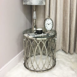 Primrose Chrome And Glass Side End Table