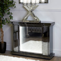 Smoked Mirror Fire Surround With Infinity Lights