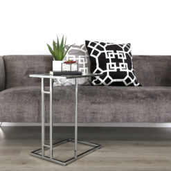 Bailey Stainless Steel Sofa Table Laptop Table Side End Table