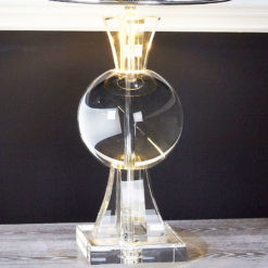 Crystal Thistle Table Lamp With Silver Shade
