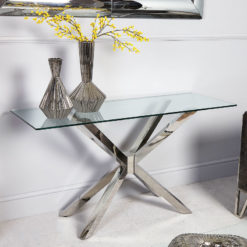 Debonaire Glass And Chrome Console Table Dressing Table