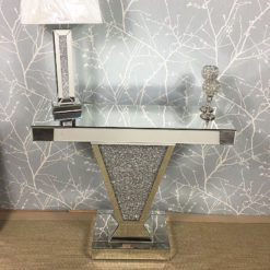 Diamond Crush Mirror Crushed Crystal V Console Display Dressing Table
