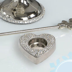 Diamond Glitz Nickel Heart Tealight Holder