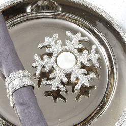 Diamond Glitz Nickel Snowflake Tealight Holder