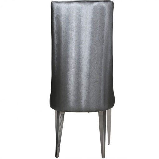 Josephine Grey Faux Leather Stitched Design Dining Chair