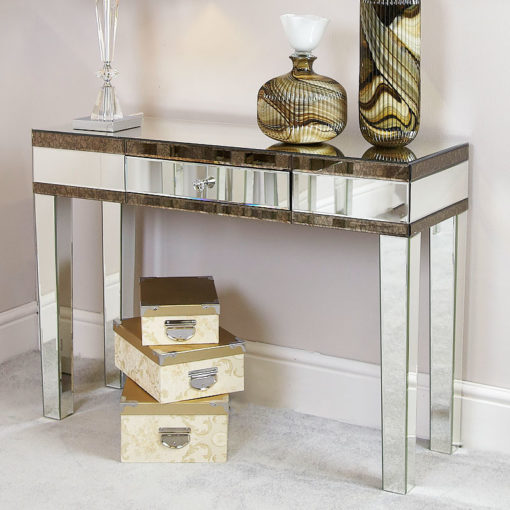 Regina Antique Mirrored Console Table Dressing Table