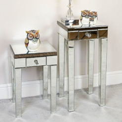Regina Antique Mirrored Side Table Display Table End Table