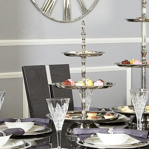 Stainless Steel 3 Tier Cake Stand 56cm