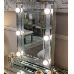 Diamond Glitz Dressing Table Mirror With 6 Dimmable LED Light Bulbs