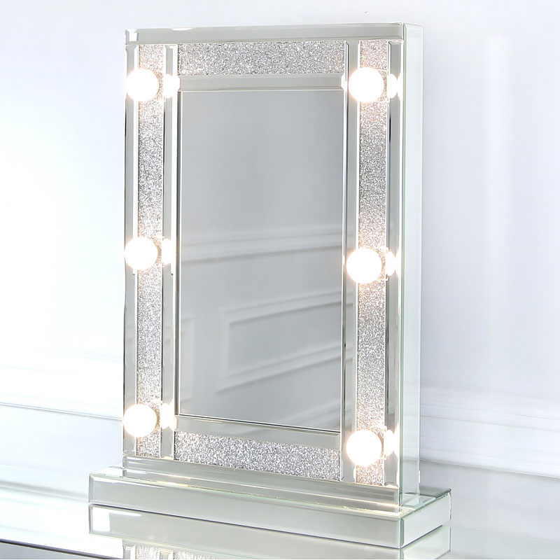 Diamond Glitz Hollywood Dressing Table Mirror With 6 Led