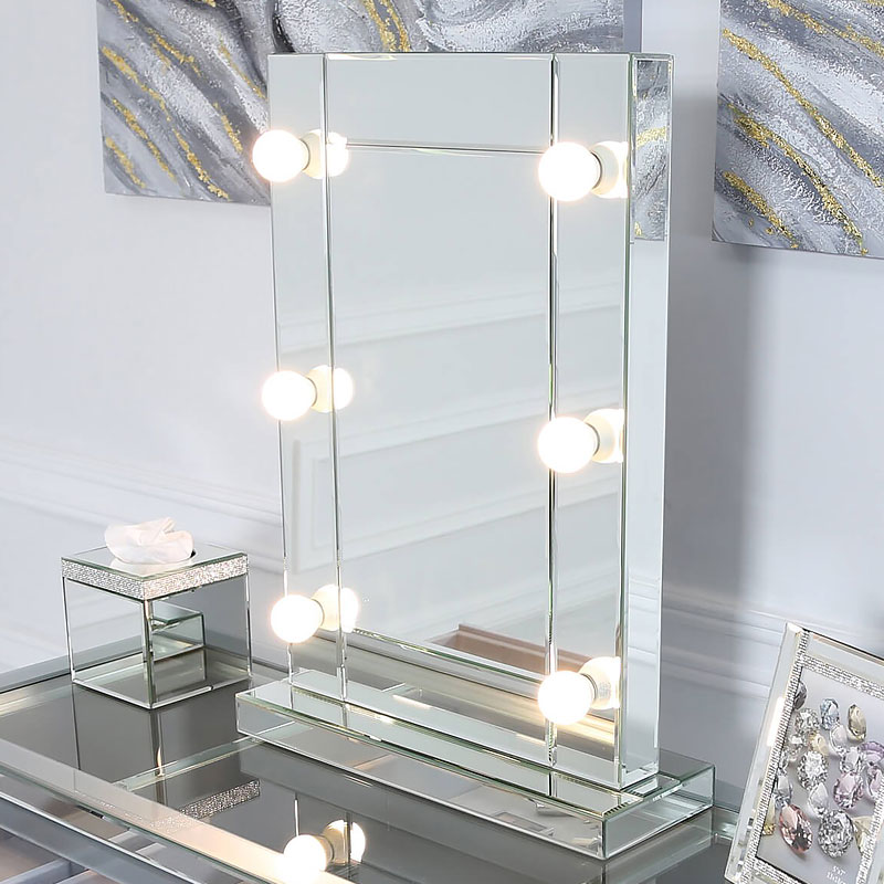Hollywood Dressing Table Vanity Mirror With 6 Dimmable Led