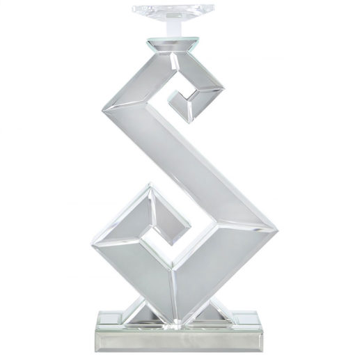 Simone Mirrored S Shape Candle Holder