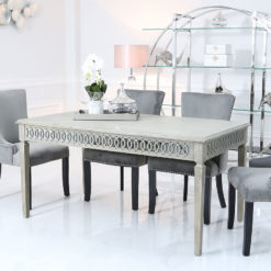 Bayside Mirrored Hampton Style 160cm Dining Table Kitchen Table