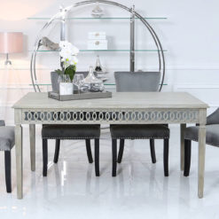 Bayside Mirrored Hampton Style 180cm Dining Table Kitchen Table