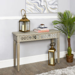 Bayside Mirrored Hampton Style 2 Drawer Console Dressing Vanity Table