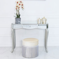 Amelia Mirrored Silver 1 Drawer Console Dressing Table