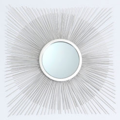 Metal Diamond Wall Art Decoration With An Inner Mirror Circle 72cm