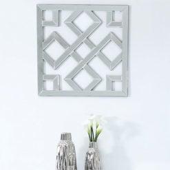 Small Diamond Geometric Mirror Wall Art 40cm