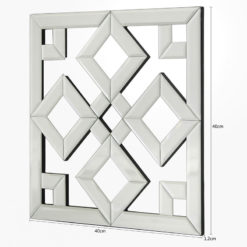 Small Diamond Geometric Mirror Wall Art 40cm