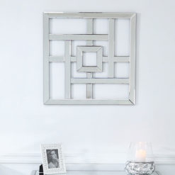Small Geometric Mirror Wall Art 40cm