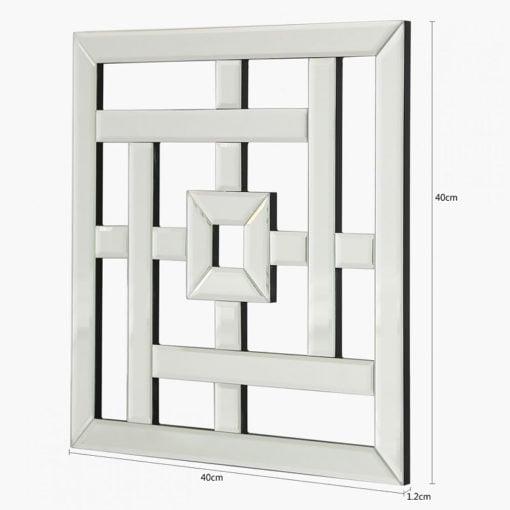 Small Geometric Mirror Wall Art 40cm