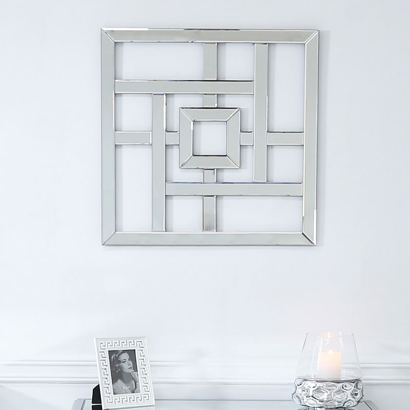 Small Geometric Mirror Wall Art 40cm Picture Perfect Home
