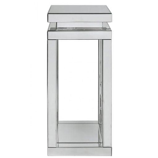 Classic Mirror Mirrored Pillar Pedestal Display End Side Lamp Table