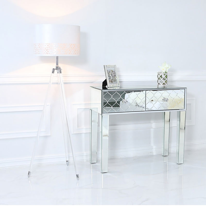 Hollywood Tripod Floor Lamp With Acrylic Base And A White ...