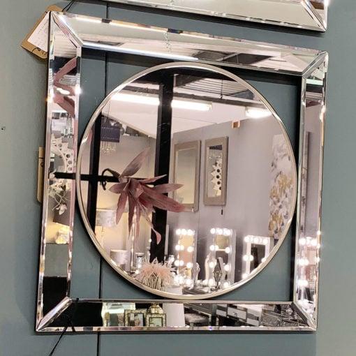 Small Circle Mirror Wall Art 40cm