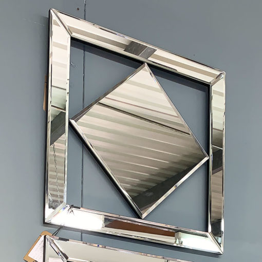 Small Diamond Mirror Wall Art 40cm