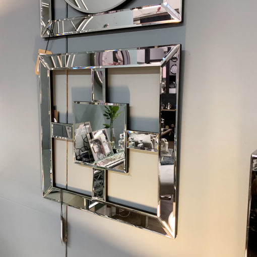 Small Square Mirror Wall Art 40cm