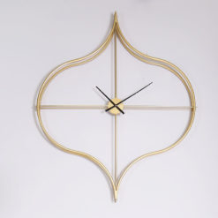 Moresque Gold Moroccan 138cm Wall Clock With An Ogee Design Frame