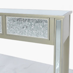 2 Drawer Dark Champagne Mirrored Sparkle Mosaic Console Dressing Table